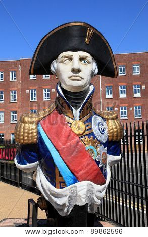 Statue of Admiral Lord Nelson of Portsmouth