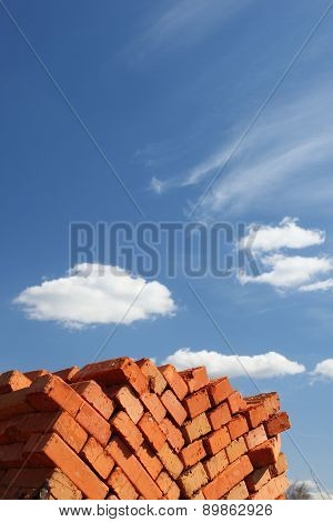 Clay Bricks Stacked