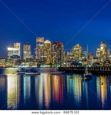 Boston Downtown Skyline Panorama