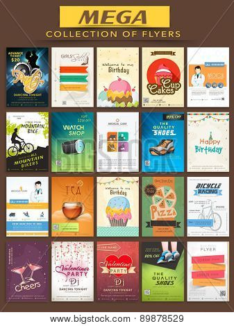 Mega collection of stylish Flyers for different business purpose.