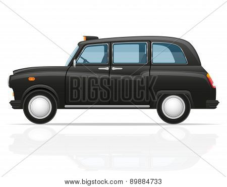 London Car Taxi Vector Illustration