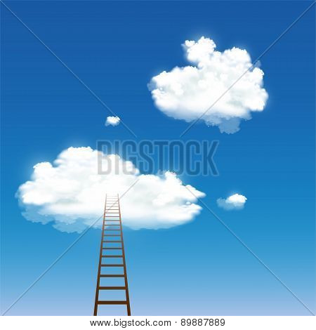 Staircase Leading To The Clouds