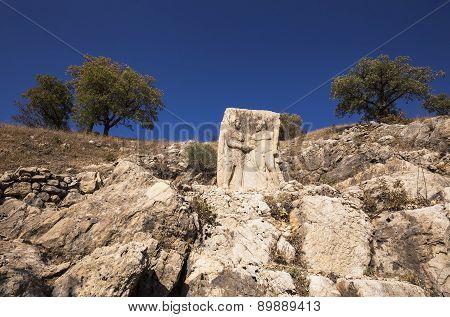 King Mithridates Shaking Hands With God Herakles