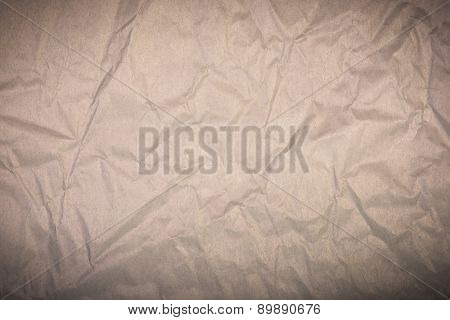 Brown Wrinkled Paper Background