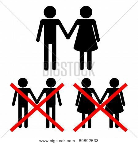 No Perversion Vector Illustration From Signs