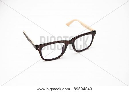 Nerd glasses on isolated white background,