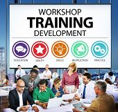 Workshop Training Teaching Development Instruction Concept poster