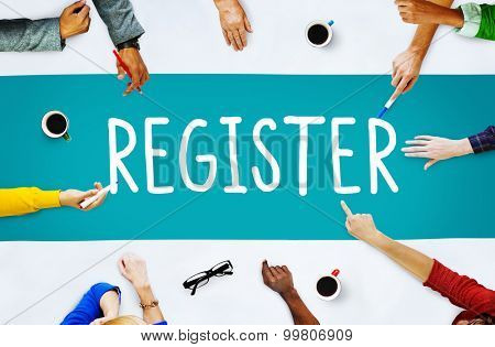 Register Subscribe Enlist Membership Concept