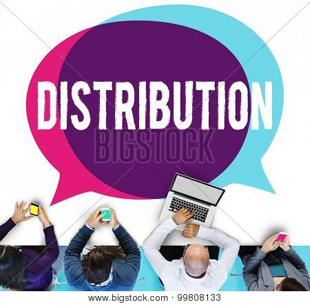 Distribution Sale Marketing Distributor Strategy Concept poster