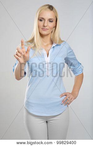 Woman touching