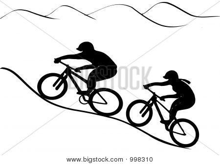 Mtb Rider Pair