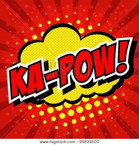 Ka-pow! Comic Speech Bubble, Cartoon.
