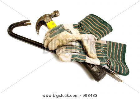 Construction Gloves with tools for Demolition