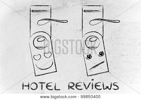 Hotel Guest Reviews: Appreciative And Unimpressed Face