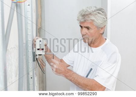 Man with gadget