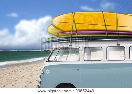 Bread Van Form Surf, Beach
