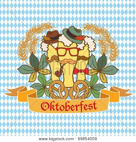 Oktoberfest Logo Template With Coat Of Arms