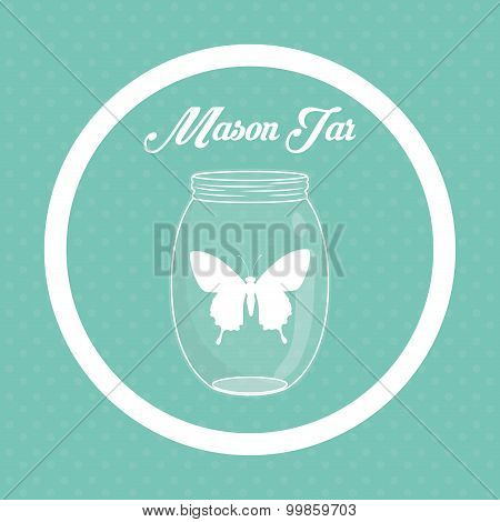 Jar mason design, vector illustration eps 10. poster