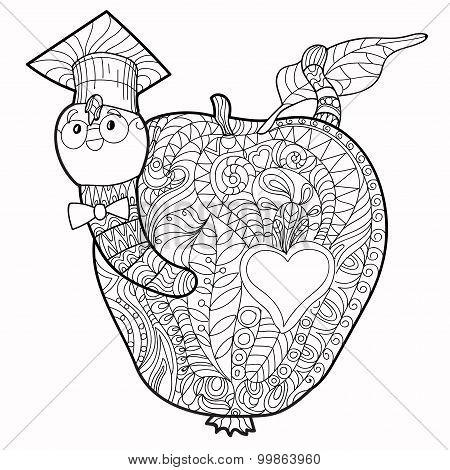Bookworm doodle.