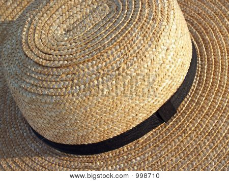Amish Straw Hat From Above