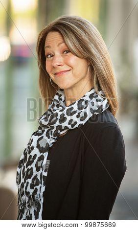 Upbeat Smiling Businesswoman