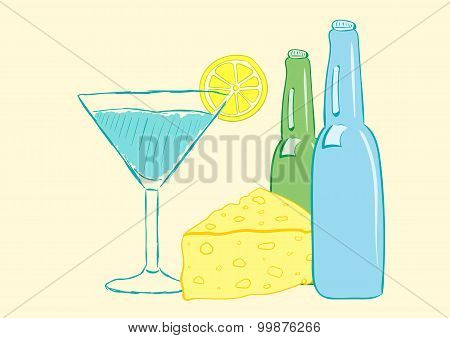 Still life with alcohol