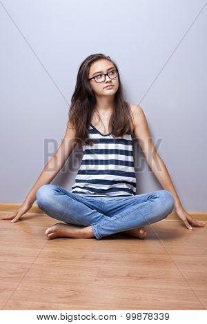 Teenage Girl Posing.