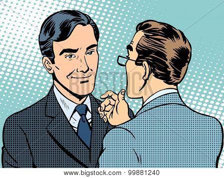 Dialogue conversation businessmen