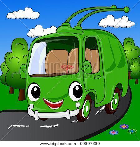 Cartoon Trolleybus