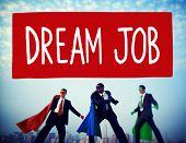 Dream Job Occupation Career Aspiration Concept poster