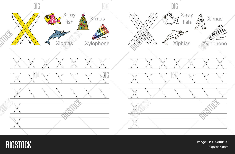 Tracing Worksheet Vector Photo Free Trial Bigstock
