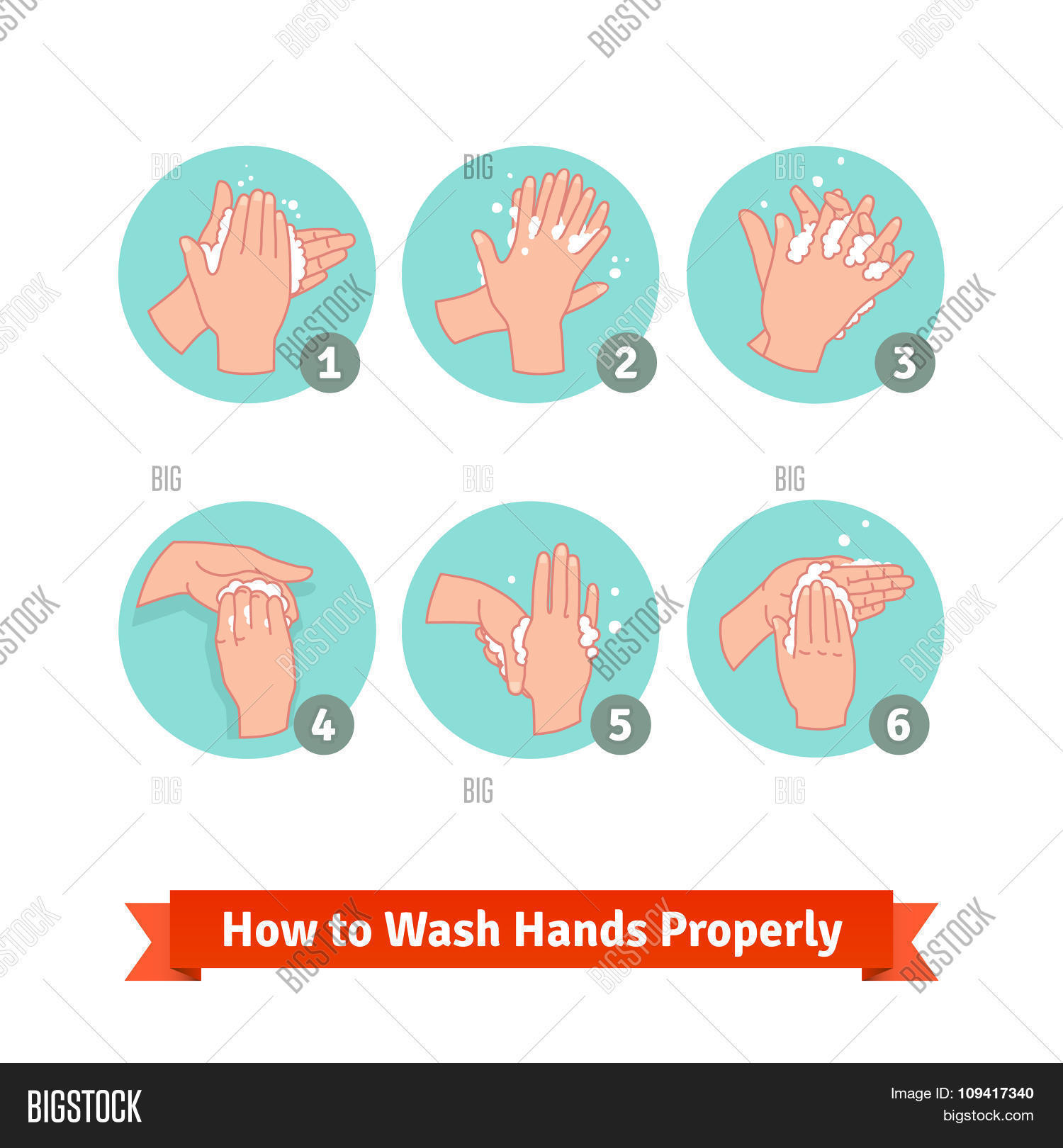 Hands Washing Medical Vector Photo Free Trial Bigstock