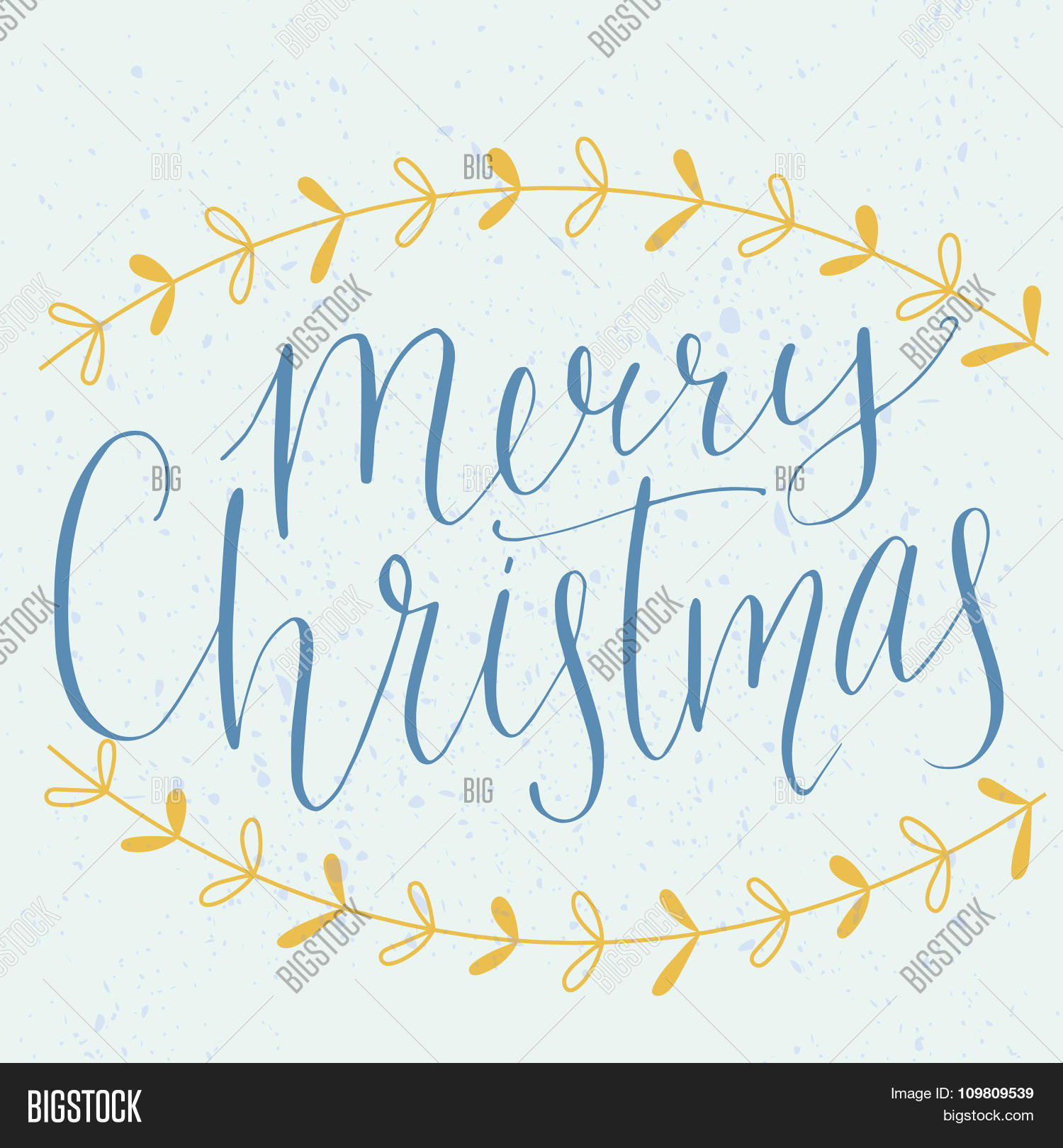 Merry Christmas Type Modern Calligraphy Made With Dip Pen Vector Lettering Hand Drawn