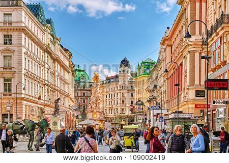 Vienna, Austria- September 10, 2015: Cityscape  Views Of One Of Europe's Most Beautiful Town- Vienna