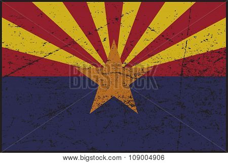 Arizona Flag Grunged