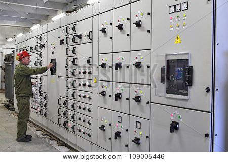 Engineer Electrician Switches Switchgear Equipment.
