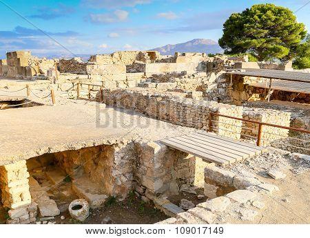 Excavations In Phaistos