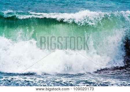 Heavy Waves At Beach