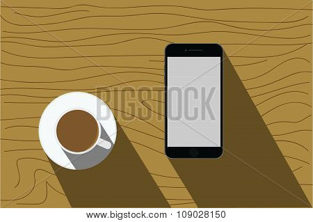 iPhone And Coffee_Brown