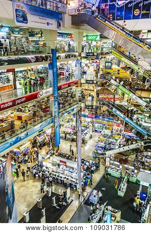 People Shop Inside The Pantip Plaza