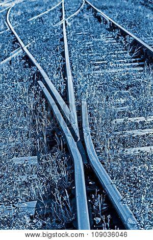 Railway Junction In Blue Background 7