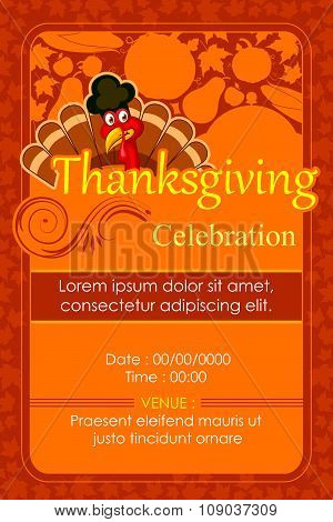 Happy Thanksgiving Party invitation background