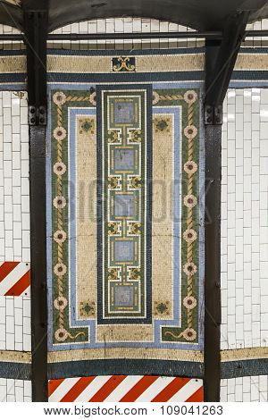 Metro In New York With Old Historic Tiles