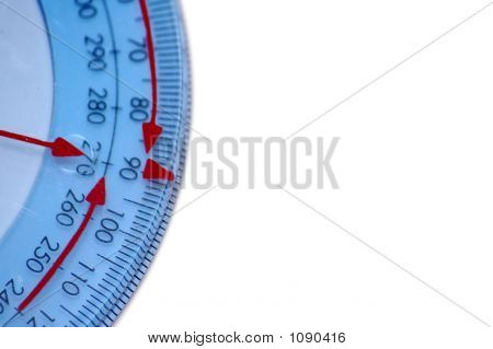 Red Arrows On A Protractor