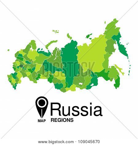 Green Map Of Russia Regions