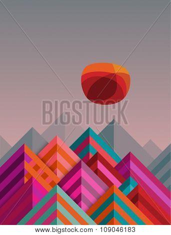 Mountains, eps10 vector