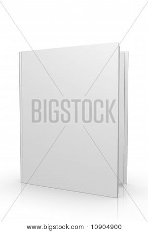 3d Blank Open Book Cover Internet Icon