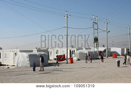 Qadia IDP camp
