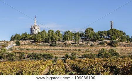 Sanctuary of Montserrat in Montferri Alt Camp Tarragona province Catalonia Spain. By modernist architect Josep Maria Jujol poster