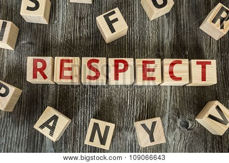 Wooden Blocks with the text: Respect